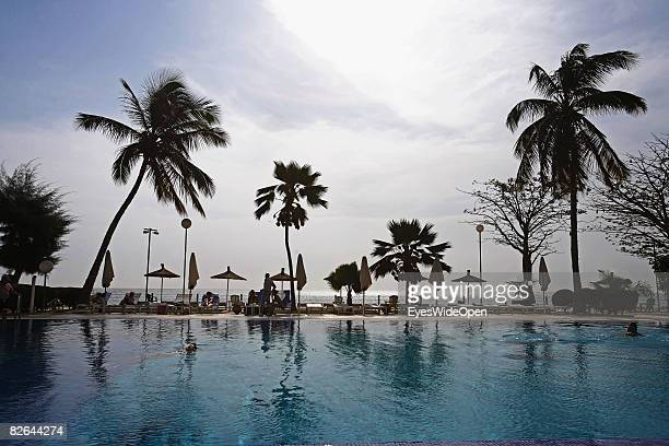 A general view of the pool and beach at Hotel Sofitel on December 27 2007 in Dakar Republic of Senegal Dakar is the capital city of Senegal that is...