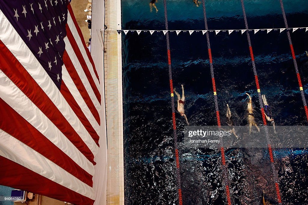 A general view of the pool during day three of the ATT Short Course Nationals at Weyerhaeuser King County Aquatic Center on December 5 2009 in...