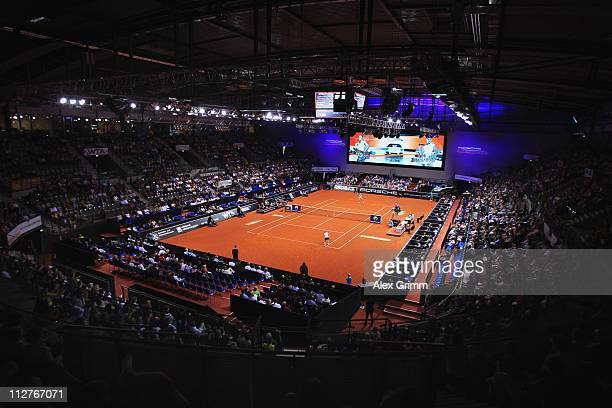 General view of the Porsche Arena during the Quarter Final match between Samantha Stosur of Australia and Vera Zvonareva of Russia at the Porsche...