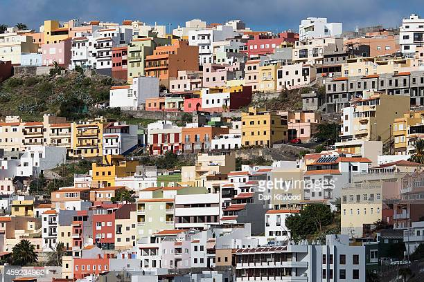 A general view of the port town of San Sebastian de la Gomera on November 11 2014 in La Gomera Canary Island Spain