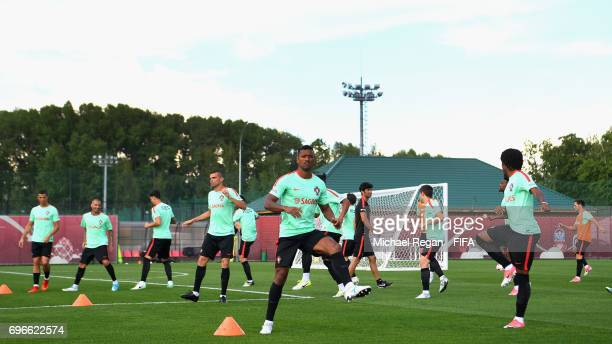 A general view of the Portugal training session on June 16 2017 in Kazan Russia