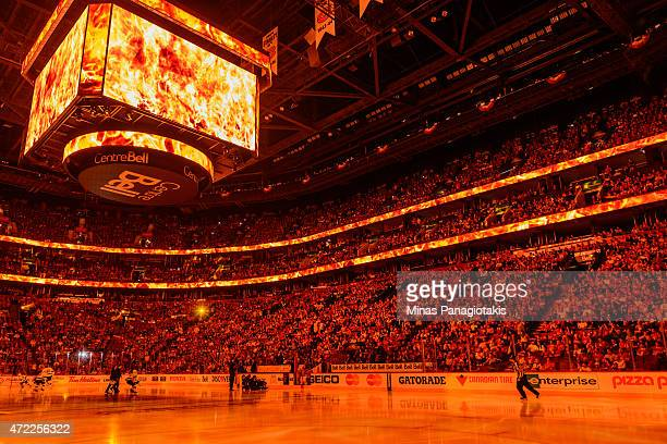 General view of the pre game ceremony in Game Two of the Eastern Conference Semifinals between the Montreal Canadiens and the Tampa Bay Lightning...