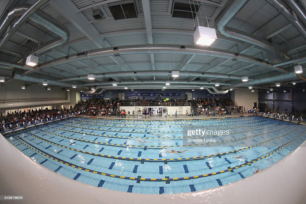 A general view of the preliminaries on day 1 of the 2016 U.S. Paralympic Trials Swimming at Mecklenburg County Aquatic Center on July 1, 2016 in Charlotte, North Carolina.