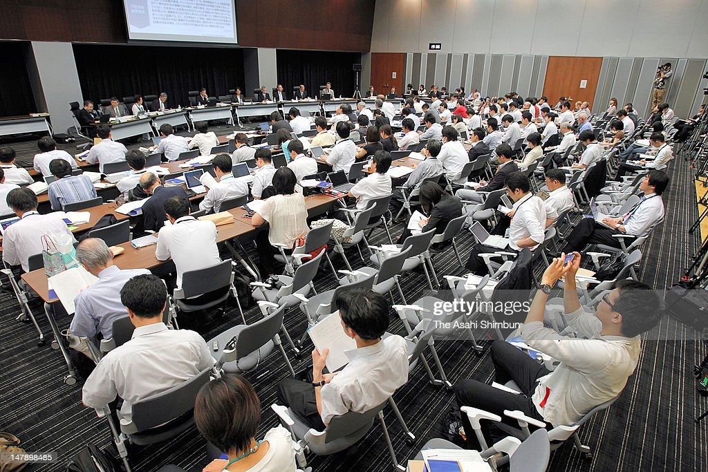 General view of the press conference on the final report of the Fukushima Daiichi Nuclear Power Plant Accident by the Diet's task force investigating the accident, on July 5, 2012 in Tokyo, Japan. Lambasting both Tokyo Electric Power Co. and the prime minister's office, the fianl report recommended an overhaul of the government's crisis management system.