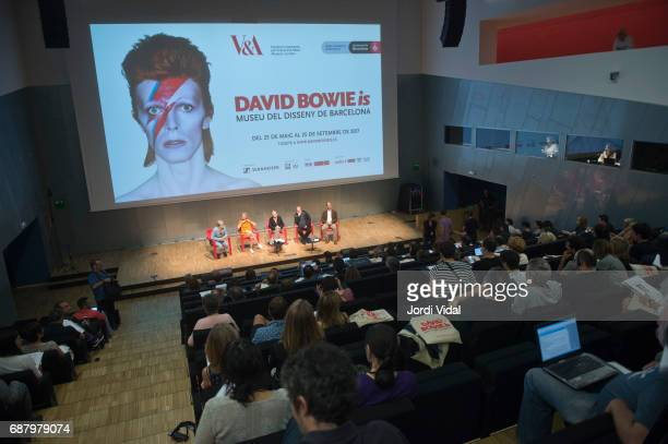 General view of the press confference for the Exhibition 'David Bowie Is' at Museu Del Disseny on May 24 2017 in Barcelona Spain