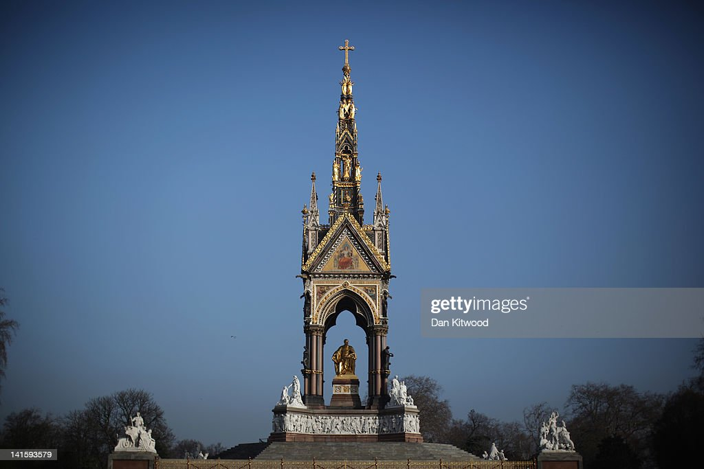 A general view of the Prince Albert Memorial in Hyde Park on March 15, 2012 in London, England. The national memorial officially titled the Prince Consort National Memorial was created to recognise the British public's sense of loss after the Prince died of Typhoid aged 42, in 1861.