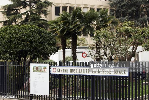 A general view of the Princess Grace hospital where Prince Ernst August of Hanover Princess Caroline's husband is being cared for on April 8 2005 in...