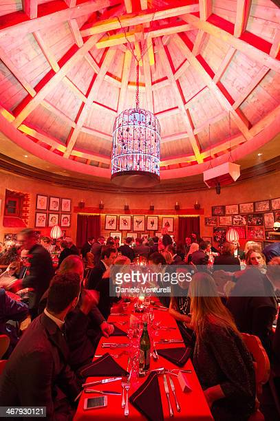 General view of the private dinner Host Dean and Dan Caten of Dsquared2 at Dracula's Club in St Moritz on February 8 2014 in St Moritz Switzerland