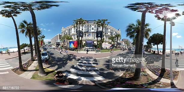 A general view of the Promenade de la Croisette on May 16 2016 in Cannes France