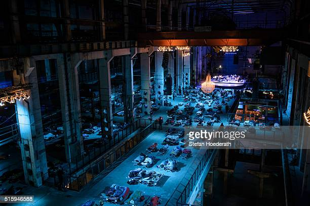 A general view of the public world premiere of Max Richter's 8 hour long 'SLEEP' live performance during 'Maerzmuisk' Festival at Kraftwerk Mitte on...