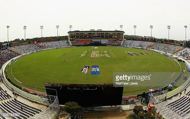 A general view of the Punjab Cricket Association Stadium during the 2011 ICC World Cup Group B match between Netherlands and South Africa at Punjab...