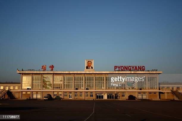 A general view of the Pyongyang Airport on April 3 2011 in Pyongyang North Korea Pyongyang is the capital city of North Korea and the population is...
