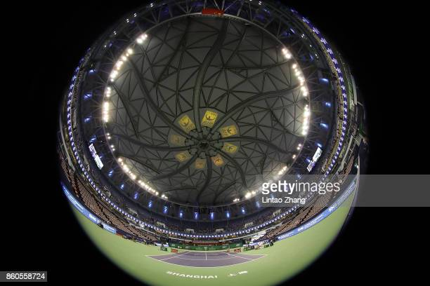 A general view of the Qi Zhong Tennis Centre on day five of 2017 ATP Shanghai Rolex Masters on October 12 2017 in Shanghai China