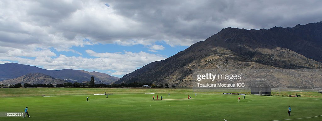 A general view of the Queenstown Events Centre during the ICC Cricket World Cup Qualifier match between Scotland and Hong Kong on January 13 2014 in...