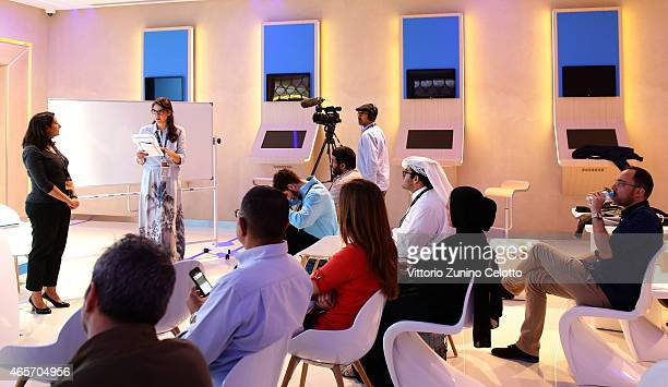 A general view of the Qumra Group Tutorial Crowdfunding with Vida Rizq / Aflamnah during the inaugural edition of Qumra a new industry event by the...