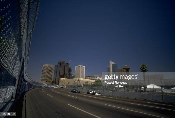 General view of the race during the United States Grand Prix at the Phoenix circuit in Arizona USA Mandatory Credit Pascal Rondeau/Allsport