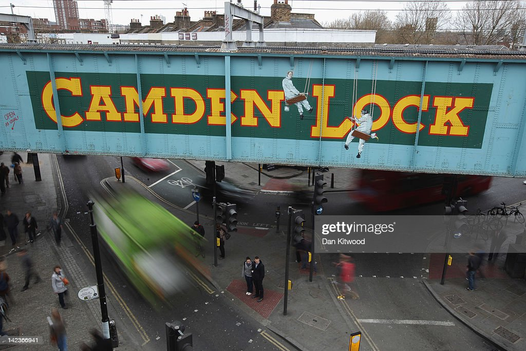 A general view of the railway bridge over Camden Lock on March 31, 2012 in London, England. Camden in North London has been one of the city's cultural centres since the 1960's, and is home to the famous Camden Market. The borough is rich in musical heritage with a variety of theatres, art galleries and world famous musical and comedy venues.