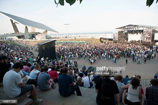 General view of the Ray Ban stage during Primavera Sound Festival 2012 at Parc Del Forum on May 31 2012 in Barcelona Spain