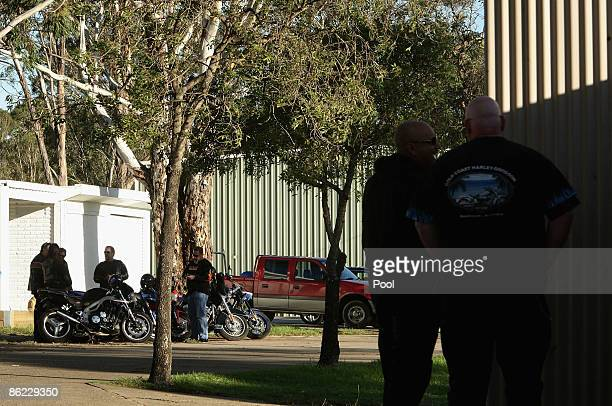 A general view of the Rebels Bikie gang Clubhouse is seen ahead of a meeting of the NSW Bikers Council during a media call at the Rebel's Clubhouse...