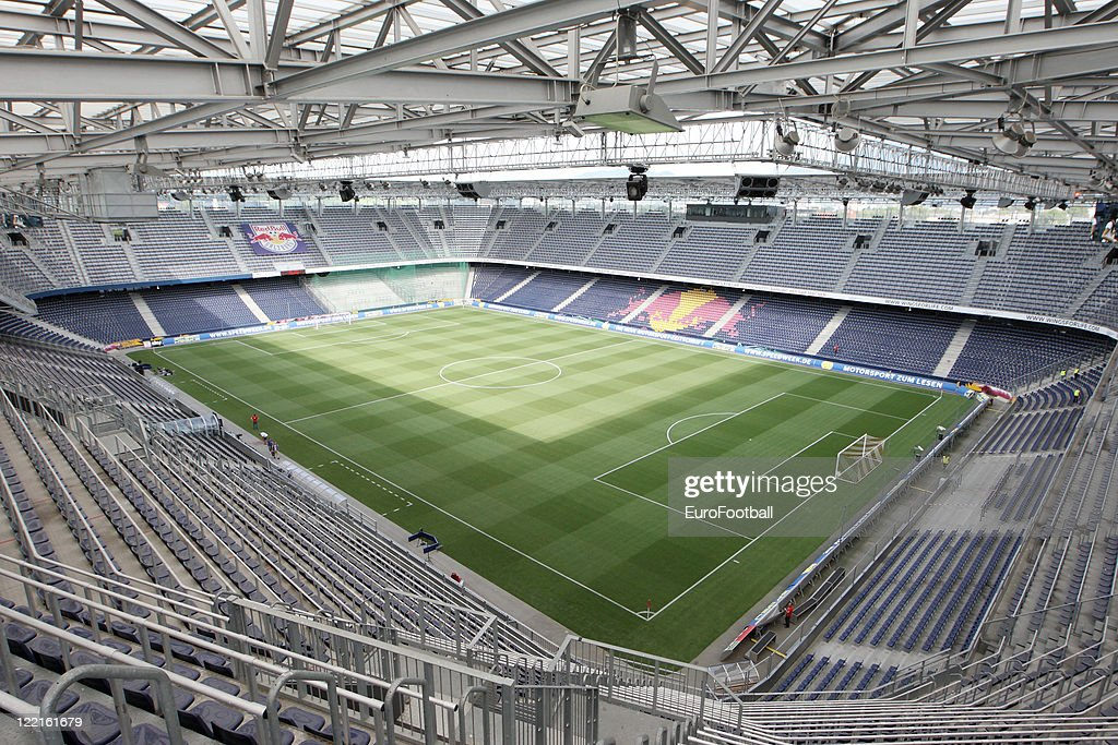 general view of the red bull arena home of fc red bull salzburg taken prior austria view red bull