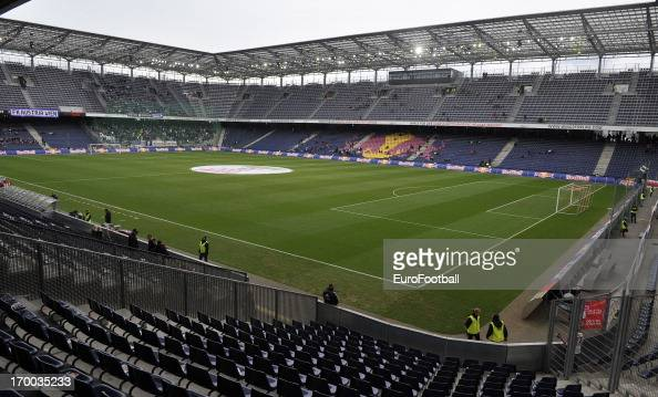 general view of the red bull arena home of fc salzburg taken during the austrian bundesliga austria view red bull