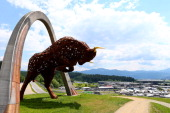 A general view of the Red Bull sculpture at the track ahead of the Austrian Formula One Grand Prix at Red Bull Ring on June 19 2014 in Spielberg...