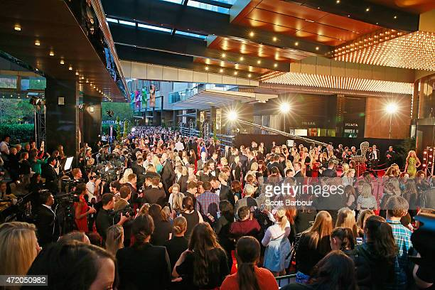A general view of the red carpet as celebrities arrive at the 57th Annual Logie Awards at Crown Palladium on May 3 2015 in Melbourne Australia