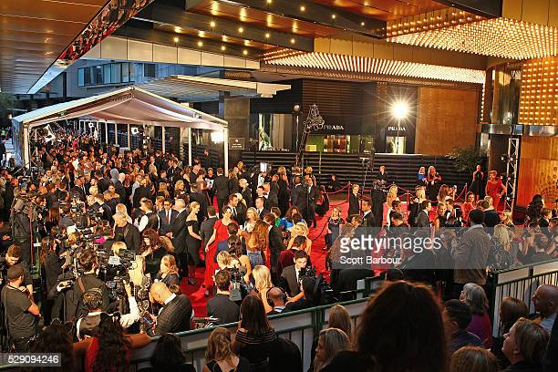 A general view of the red carpet at the 58th Annual Logie Awards at Crown Palladium on May 8 2016 in Melbourne Australia