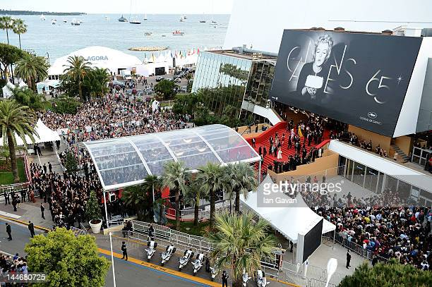 A general view of the red carpet at the 'De Rouille et D'os' Premiere during the 65th Annual Cannes Film Festival at Palais des Festivals on May 17...