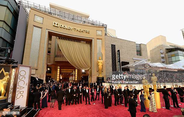 A general view of the red carpet at the Oscars held at Hollywood Highland Center on March 2 2014 in Hollywood California