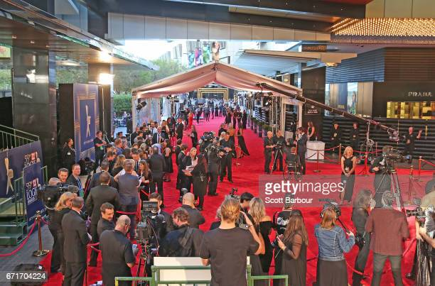 A general view of the red carpet before the celebrities arrive at the 59th Annual Logie Awards at Crown Palladium on April 23 2017 in Melbourne...