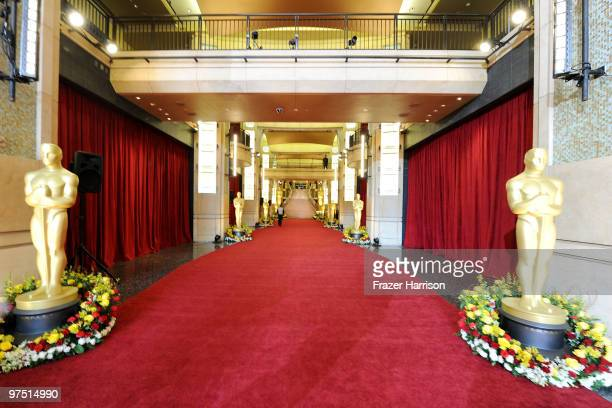A general view of the red carpet before the start of arrivals at the 82nd Annual Academy Awards held at Kodak Theatre on March 7 2010 in Hollywood...