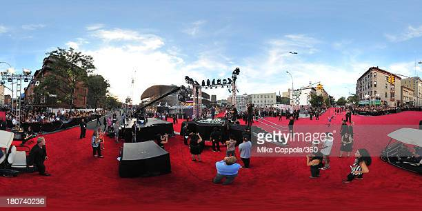 A general view of the red carpet during the 2013 MTV Video Music Awards at the Barclays Center on August 25 2013 in the Brooklyn borough of New York...