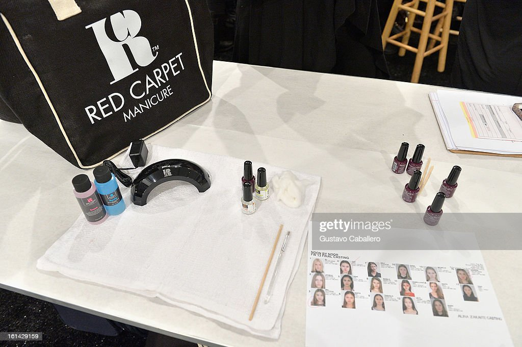 General view of the Red Carpet Manicure - Exclusive Nails of Noon by Noor at The Studio at Lincoln Center on February 8, 2013 in New York City.