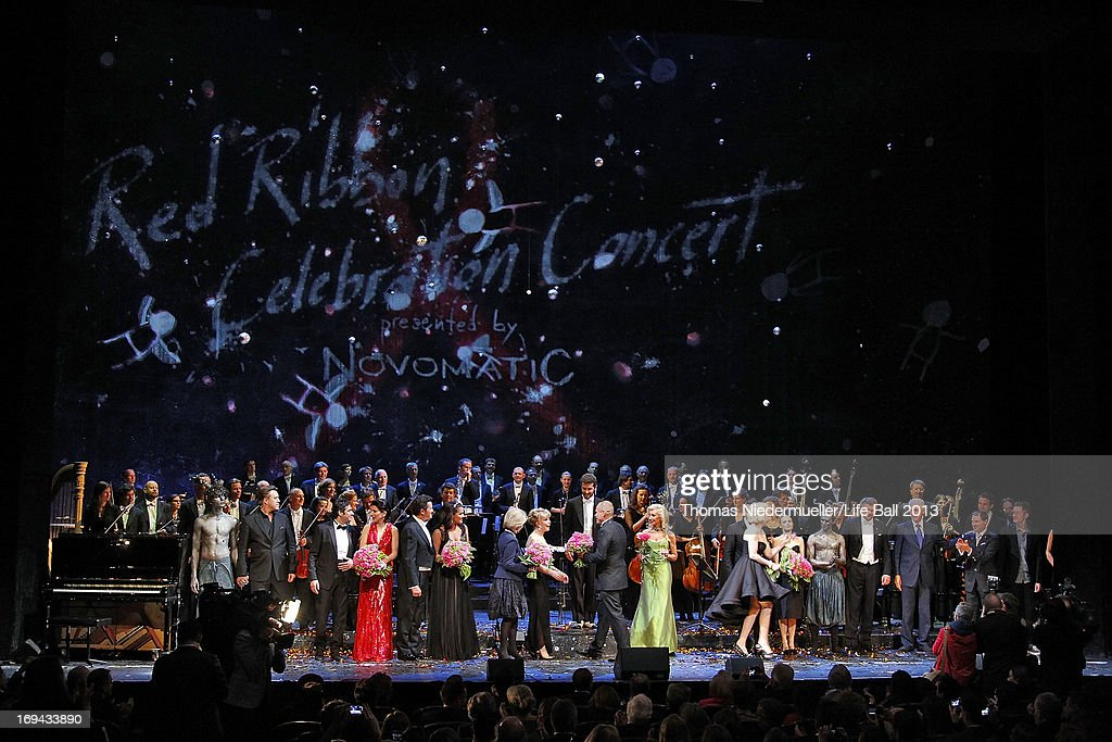 General view of the 'Red Ribbon Celebration Concert - United in Difference' at Burgtheater on May 24, 2013 in Vienna, Austria.