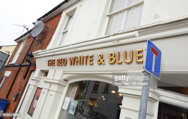 A general view of the Red White Blue pub in Portsmouth including television aerial and two satellite dishes following landlady Karen Murphy's victory...