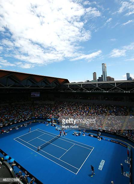 A general view of the redeveloped Margaret Court Arena during day eight of the 2015 Australian Open at Melbourne Park on January 26 2015 in Melbourne...