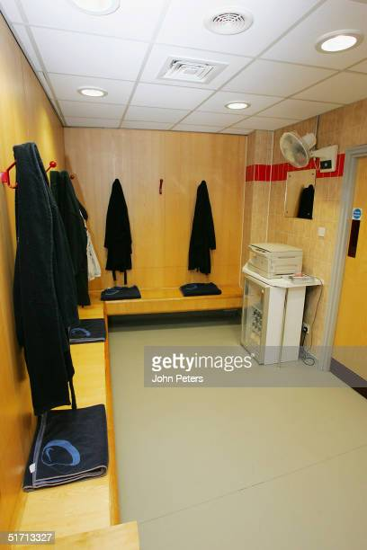 A general view of the referee's room at Old Trafford ahead of the Barclays Premiership match between Manchester United and Arsenal at Old Trafford on...