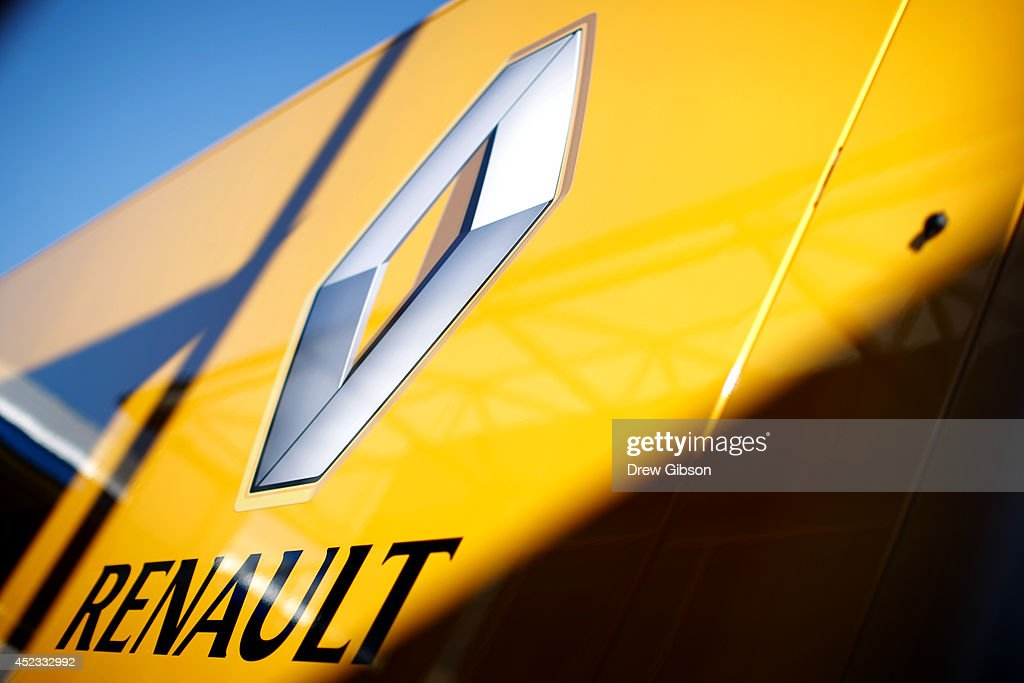 A general view of the Renault paddock office during practice ahead of the German Grand Prix at Hockenheimring on July 18 2014 in Hockenheim Germany
