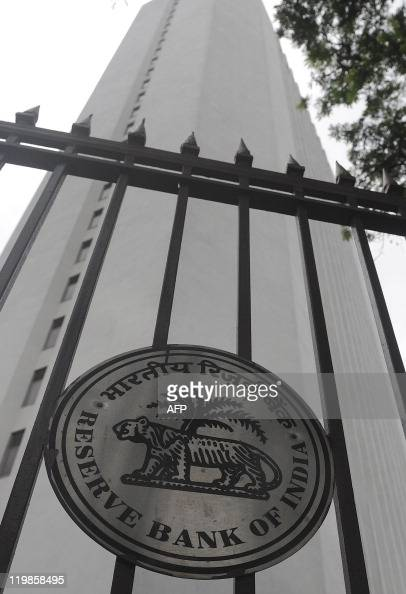 General view of The Reserve Bank of India head office facade in Mumbai on July 26 2011 India's central bank has raised interest rates by a...