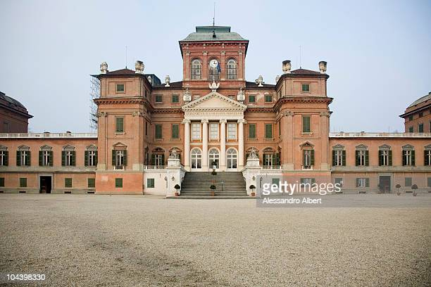 A general view of the residence of the Royal House of Savoy Castle of Racconigi on December 12 2007 in Racconigi Cuneo Italy