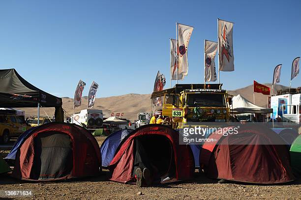A general view of the rest day bivouac on the 2012 Dakar Rally in Copiapo on January 8 2012 in Copiapo Chile