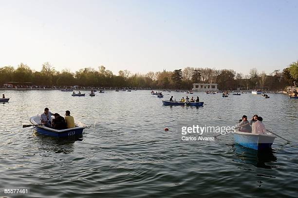 General view of the Retiro Park on March 22 2009 in Madrid Spain