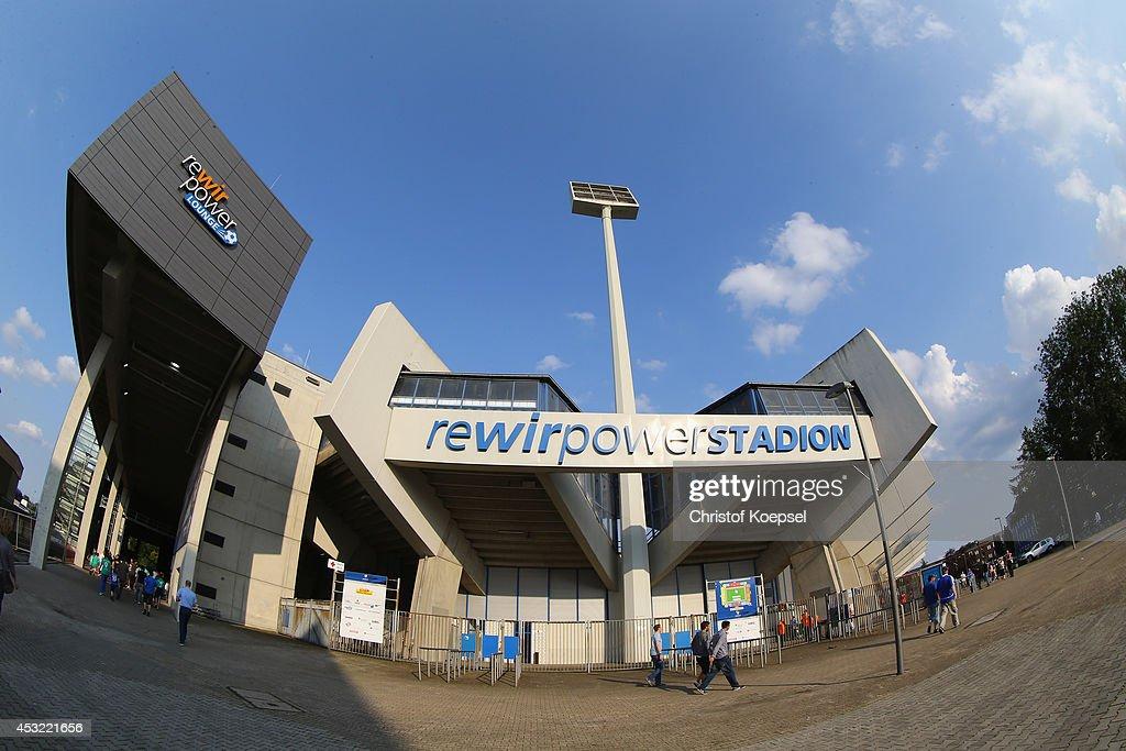 General view of the Rewirpower Stadium prior to the pre-season friendly match between VfL Bochum and FC Schalke 04 at Rewirpower Stadium on August 5, 2014 in Bochum, Germany.