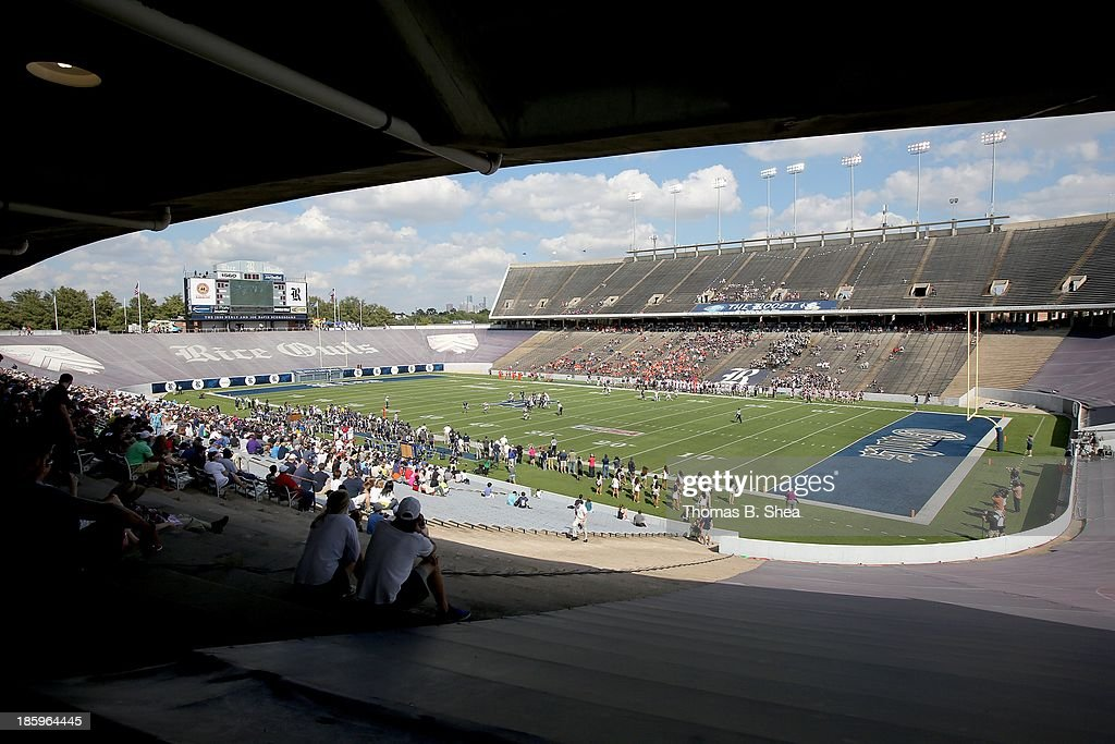 General view of the Rice Owls play against the UTEP Miners on October 26, 2013 at Rice Stadium in Houston, Texas. Rice won 45 to 7.