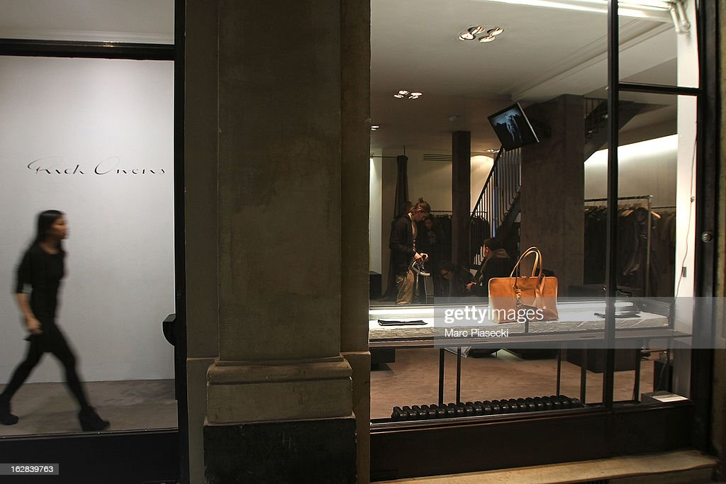 A general view of the 'Rick Owens' store on February 28, 2013 in Paris, France.
