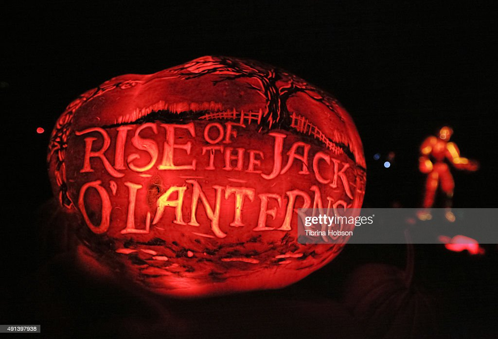 A general view of the Rise of the Jack O' Lanterns 2nd annual VIP event at Descanso Gardens on October 4 2015 in La CanadaFlintridge California