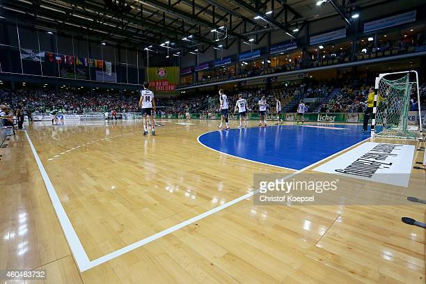 General view of the Rittal Arena after the DKB Handball Bundesliga match between HSG Wetzlar and SG Flensburg at Rittal Arena on December 14 2014 in...