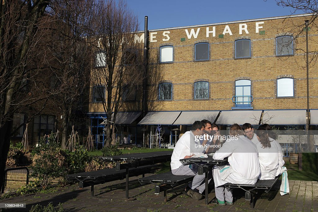 A general view of the River Cafe on March 7, 2011 in London, England.