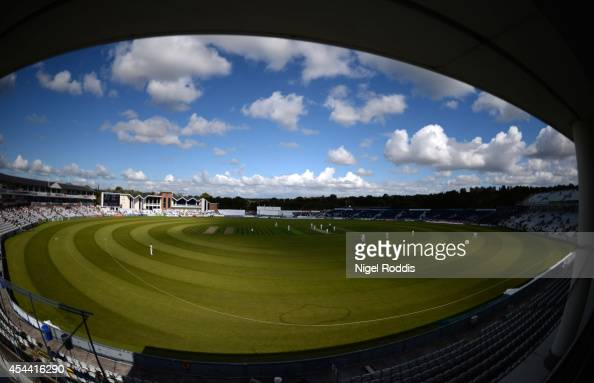 A general view of The Riverside ground during the LV County Championship match between Durham and Nottinghamshire at The Riverside on August 31 2014...